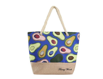 Multi Print Avocado Tote Bag