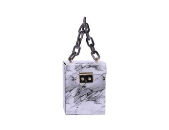 Lyanna White Marble bag