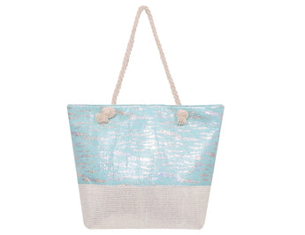Timmy Woods Zebra Pattern Tote Bag