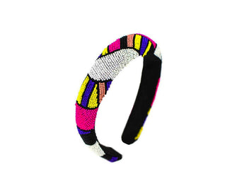 HB1 Multicolor Hand Beaded Headband