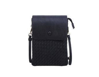 Oliva - Black Woven Vegan Leather