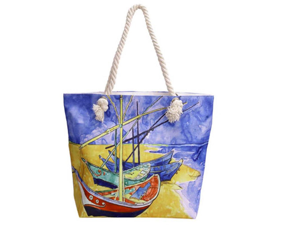 Timmy Woods Multi Print Canvas Tote Bag