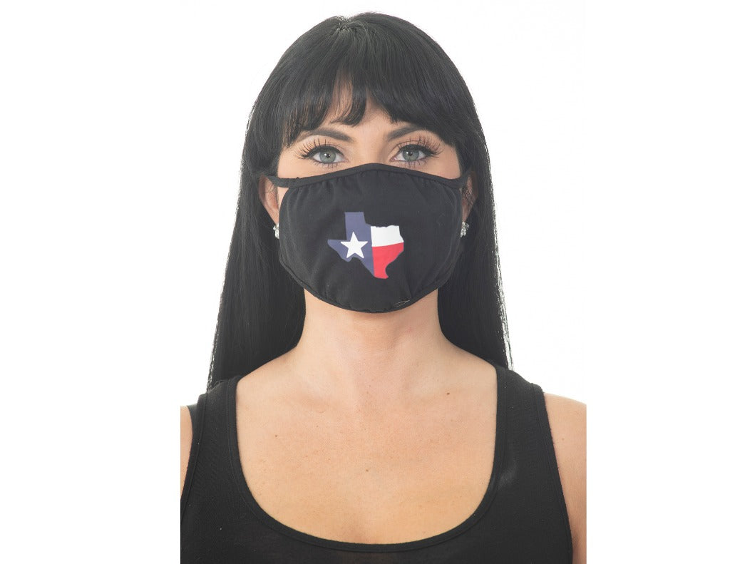Black Face Mask - Texas State Map