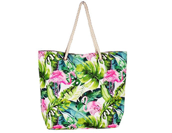 Timmy Woods Tropical Flamingo Tote Bag