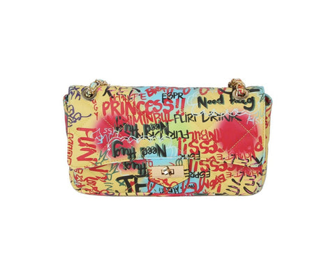 Carlos Multi Graffiti Quilted Bag