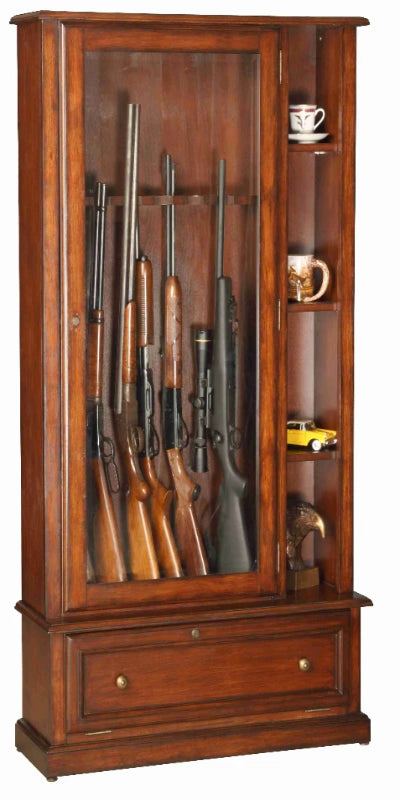 12 Gun Cabinet with Curio display