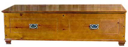 6-Gun Hidden Wood Gun Cabinet Chest
