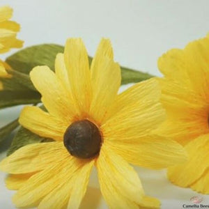 How To Make Paper Daisy Flower Black- Eyed Susan – DIY Craft Tutorial