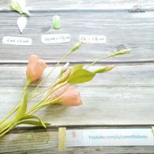 Paper Lisianthus - How to make crepe paper flower Easy Step by Step
