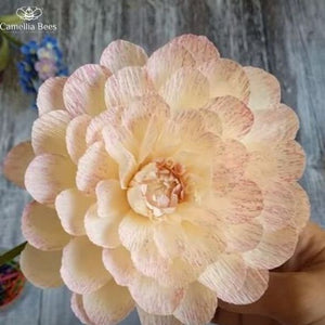 How To Make Dahlia Paper Flower DIY Tutorial Step By Step