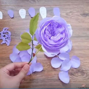 Make A Easy Paper Rose! · How To Make A Paper Flower · Papercraft ... | 300x300