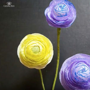 How To Make Paper Ranunculus Flower From Crepe Paper II- Small Size DIY