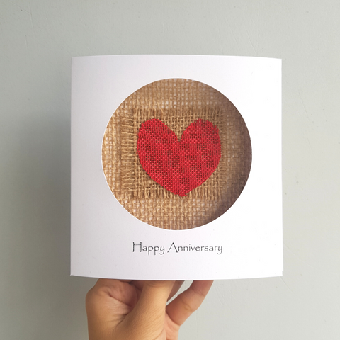linen anniversary cards