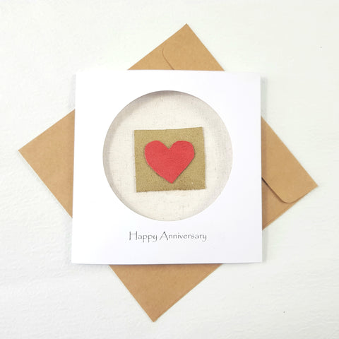 leather anniversary card