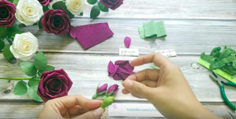 Paper-Rose-Bud-Easy-Making