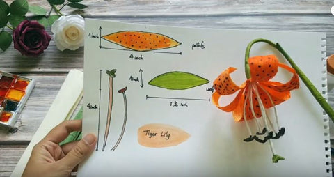 DIY paper Water Lily / How to make Water Lily With Paper - YouTube | 254x480