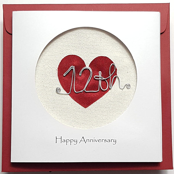 12th Anniversary Silk Card