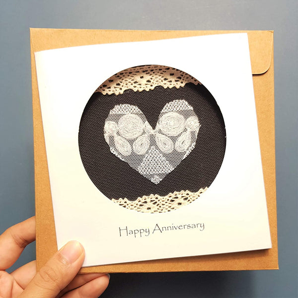 13th Anniversary Lace Card