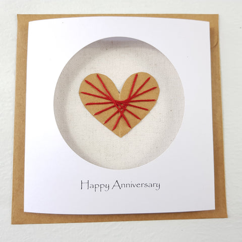 2nd Year Anniversary Cotton Card