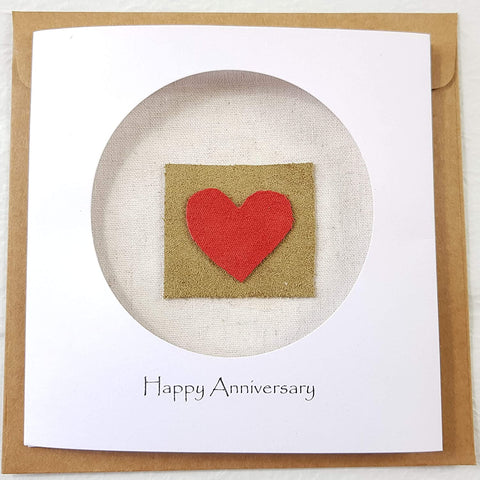 3rd Year Anniversary Leather Card