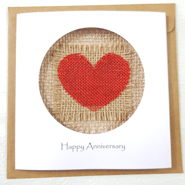 4th Year Anniversary Linen Card