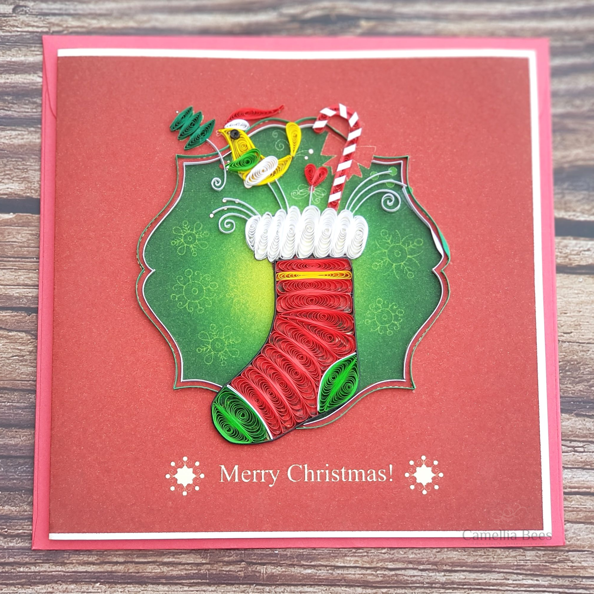 Christmast Cards 3D Quilling paper Art