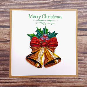 Christmast Cards 3D Quilling paper Art 4