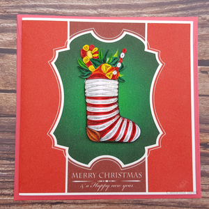 Christmast Cards 3D Quilling paper Art 5