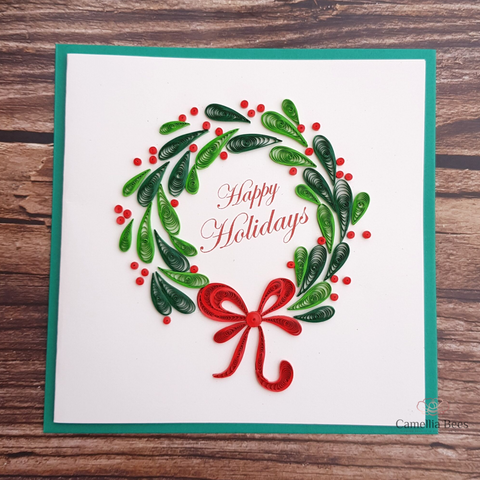 Christmast Cards 3D Quilling paper Art 7