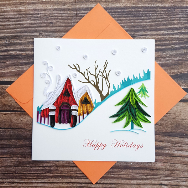 Christmast Cards 3D Quilling paper Art 6