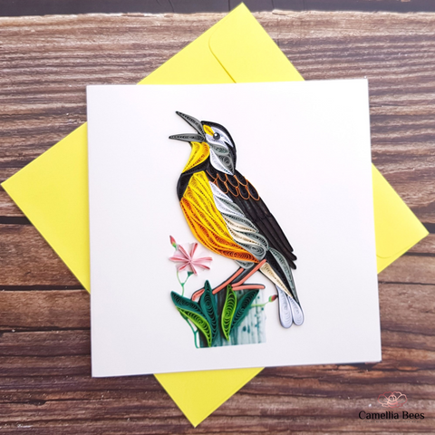 Quilling cards - Greeting Thank you Birthday Quilling paper cards - Birds