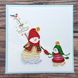 Christmast Cards 3D Quilling paper Art 8