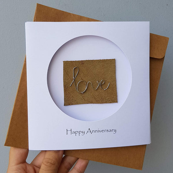 6th Year Anniversary Steel Iron Card