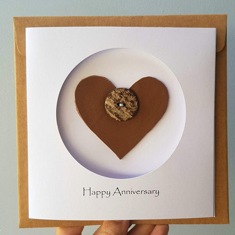 5th Year Anniversary Wood Card