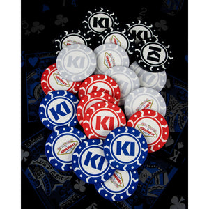 Kicking It Poker Chips