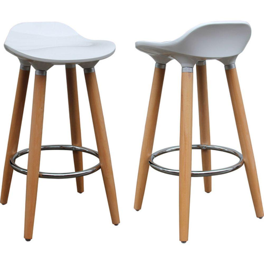 Stupendous Trex 26 Counter Stools Set Of 2 White Gmtry Best Dining Table And Chair Ideas Images Gmtryco