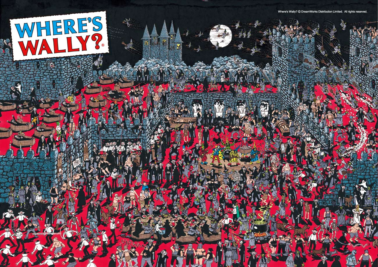 Where's Wally?graniph is collaborating with Where's Wally? a book first published in 1987 by english artist Martin Handford. Clad in his typical red and white [ssorder:-20170919] [background:dark]