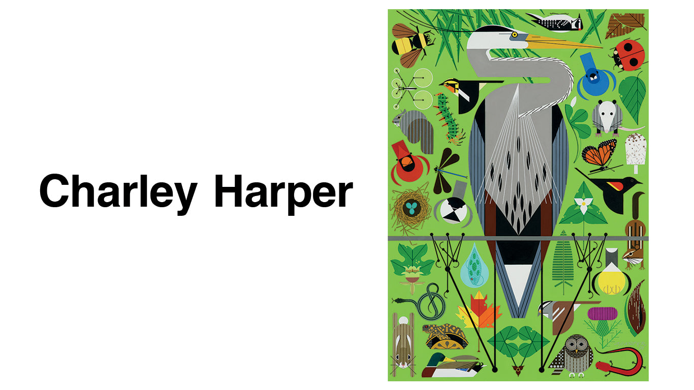 "We are proud to present the world of Charlie Harper, an artist who captured the essence of the subject with expressions with as few visual elements as possible in a style called ""minimal realism"", the rare intersection when studies of nature meets graphic design![ssorder:-20181009]"