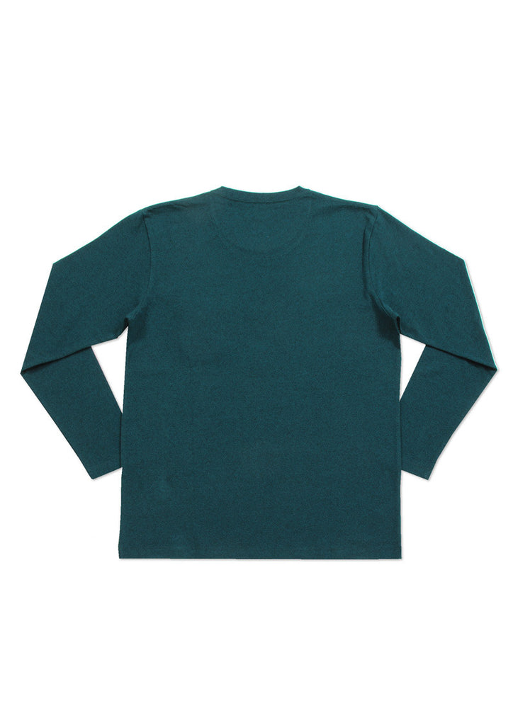 Check Pocket Long Sleeve Tee (Rocky Bear)