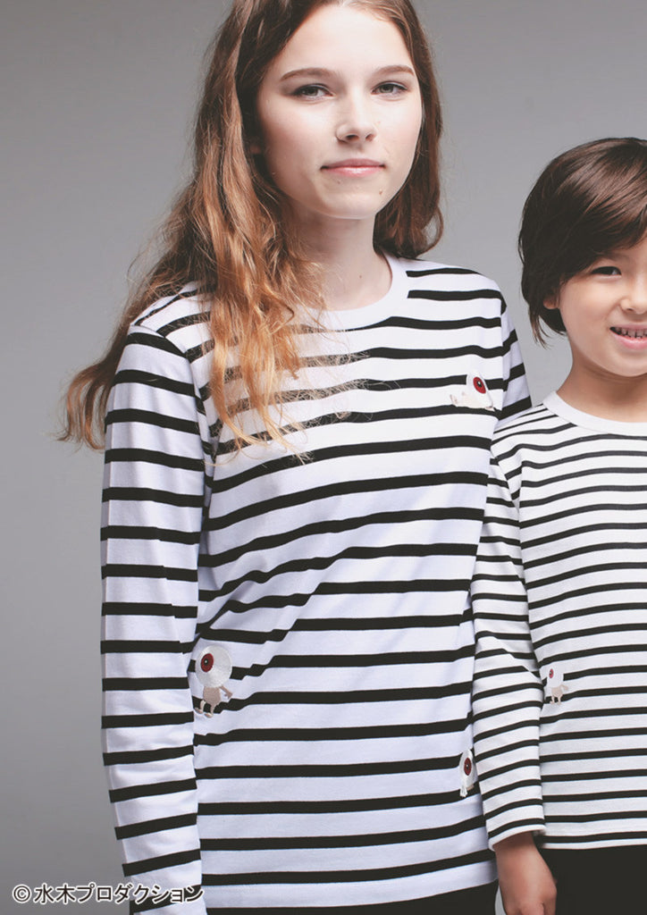 Medama Oyaji and Stripes (GeGeGe no Kitaro Long Sleeve Tee)
