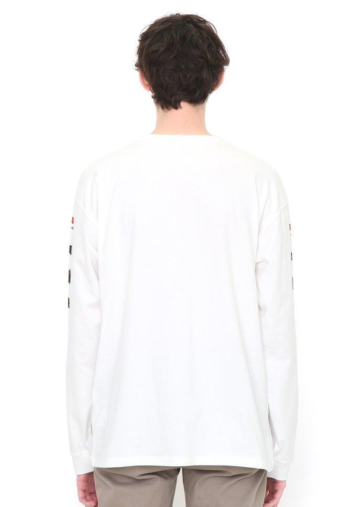 Sleeve Graphic Long Sleeve Tee (Sushi Train)