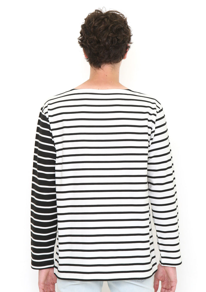 Boat Neck Border Long Sleeve Tee (I am Here)