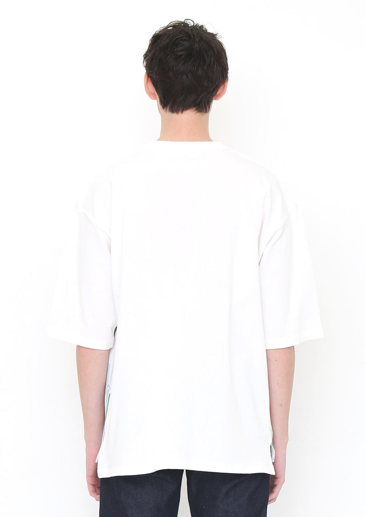 Loose Fit Middle Sleeve Tee (Many Straws)