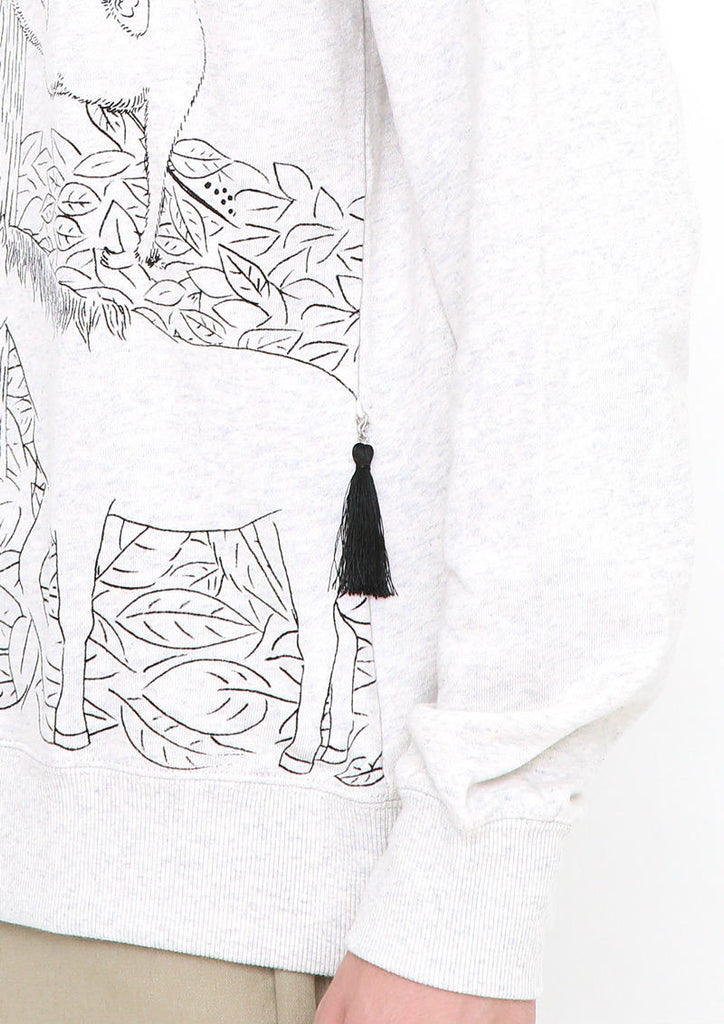 Graphic Long Sleeve Sweat (Quiet Forest)