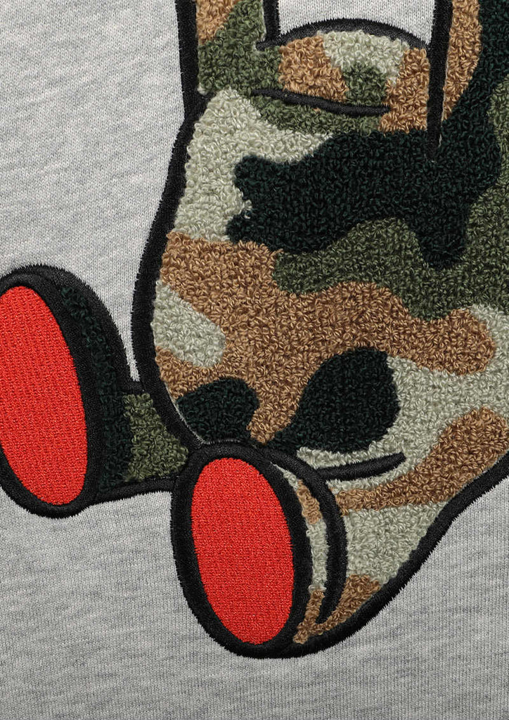 Embroidery Long Sleeve Sweat (Army Control Bear)