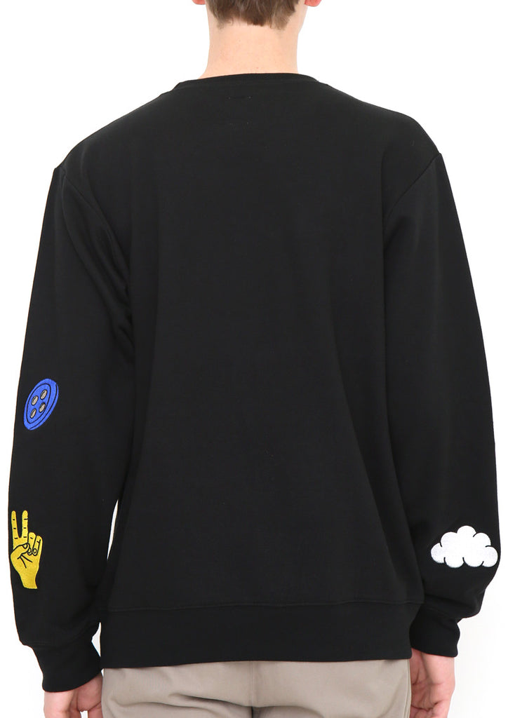 Embroidery Long Sleeve Sweat B (More Culture)