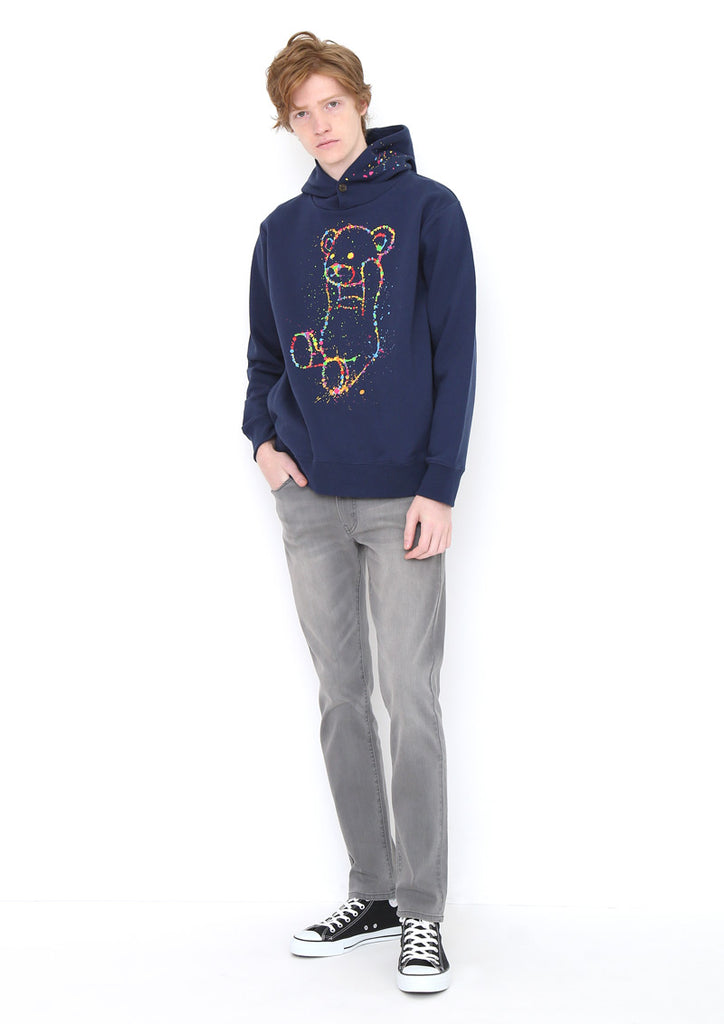 Graphic Long Sleeve Hoodie F (Dripping Control Bear)