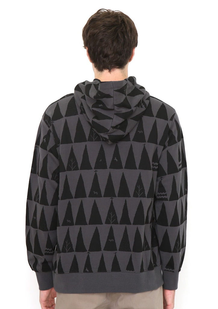 Graphic Long Sleeve Parka (Forest to Space with BS)