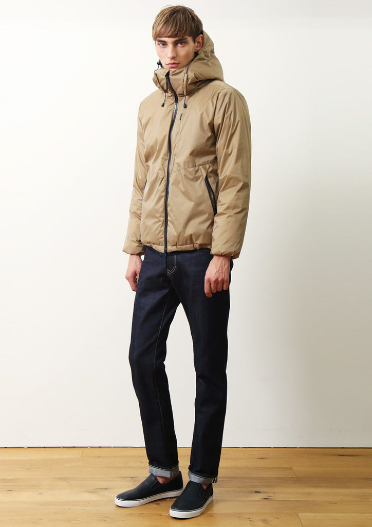 World Map Lining Blouson (Beige)