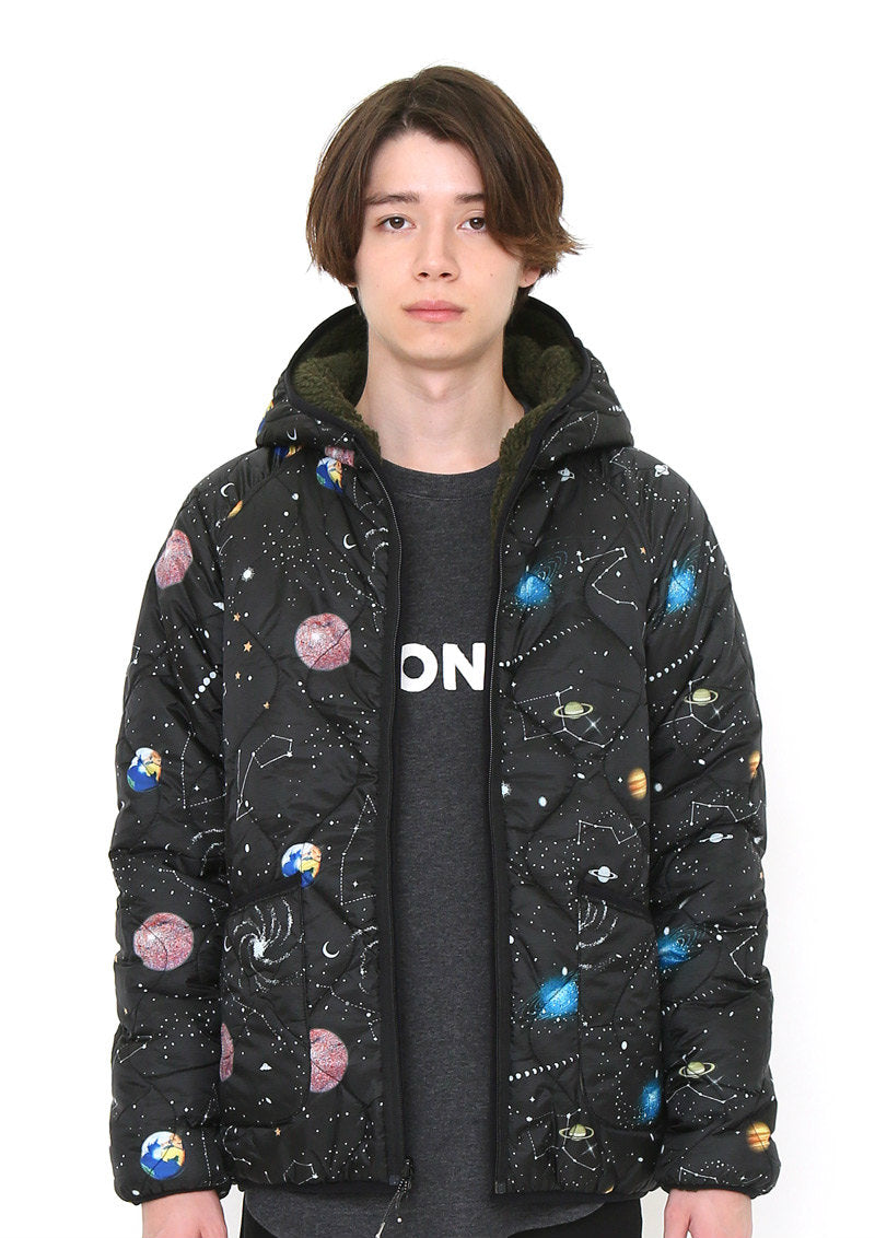 Reversible Quilting Blouson (retro future space pattern)